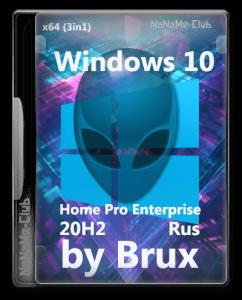 Windows 10 20H2 (19042.928) x64 Home + Pro + Enterprise (3in1) by Brux v.04.2021 [Ru]