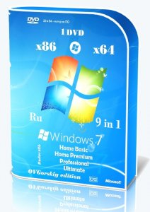 Microsoft® Windows 7 SP1 x86/x64 Ru 9 in 1 Origin-Upd 05.2016 by OVGorskiy® 1DVD