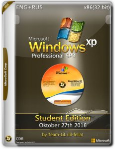 Windows XP Pro SP3 / x86 / Student Edition Oktober 27th 2016