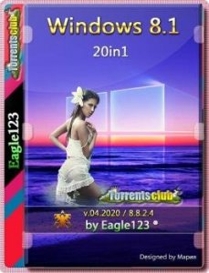 Windows 8.1 20in1 (x86/x64) by Eagle123 (04.2020) на русском